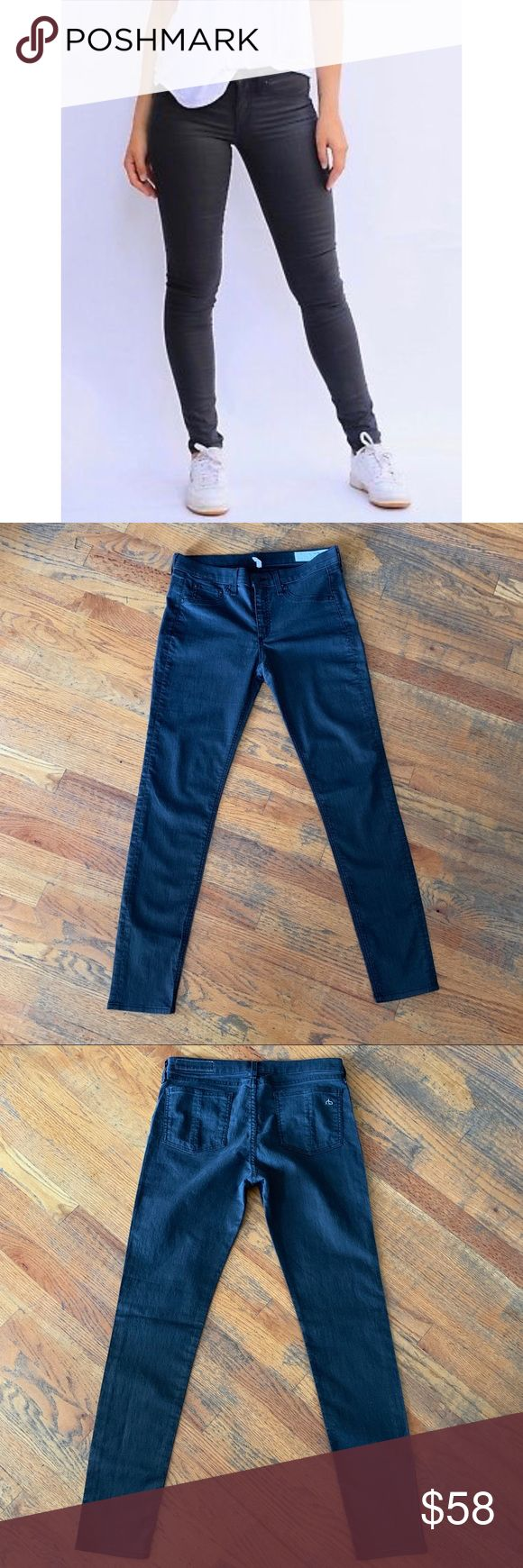 RAG & BONE Shoreditch Charcoal Gray Legging Jeans (With