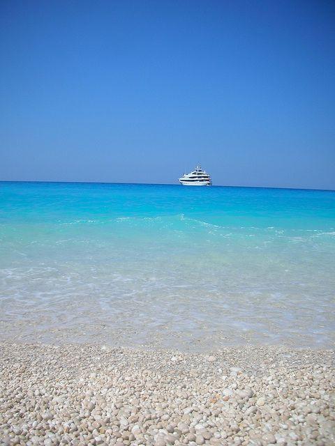 Myrtos beach, Island of Kefalonia, Greece   Flickr - Photo Sharing!