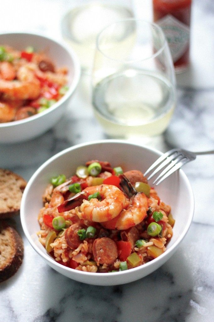 Shrimp & Chorizo Cajun Jambalaya - easy to make, full of flavor, and the leftovers are excellent!