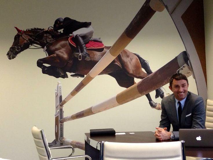 """Ufficio di #AndreaRuscica @Andrea Ruscica - Presidente di #AlteaSpa a Lainate (MI)  Murales """"Giacomo Ruscica monta Sonja Baia"""""""