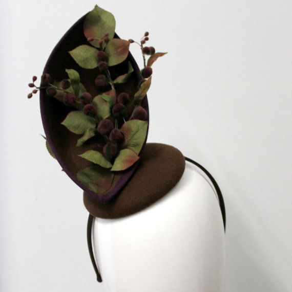 Hand blocked felt Pod millinery headpiece by WendyLouiseVintage