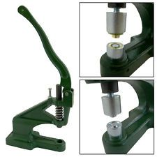 GROMMET MACHINE 3 DIE (#0 #2 #4) & 900 UPGRADED GROMMETS EYELET HAND PRESS TOOL (Modify and use for crushing aluminum cat food cans!)
