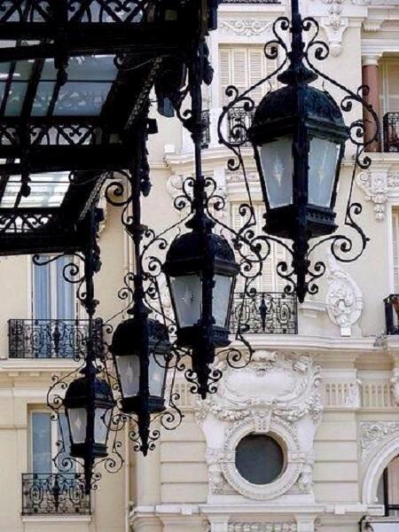 Lanterns in Paris.