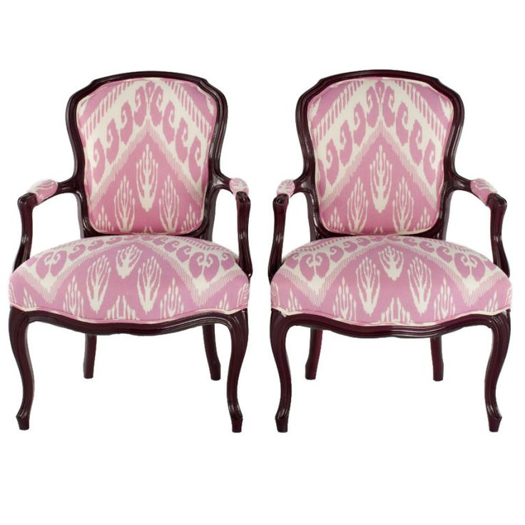 Pink Ikat Fabric By Ceylon Et Cie In Dallas Chair