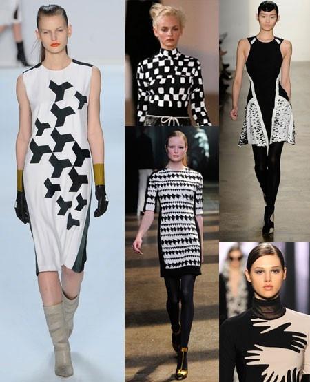 Monochrome prints. New York Fashion Week autumn/winter 2012 trend round-up