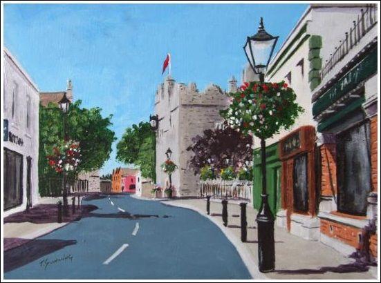"Dalkey Print 8"" x 10"" Irish streetscape, Reproduction http://www.marketdirect.ie/Dalkey-Print"