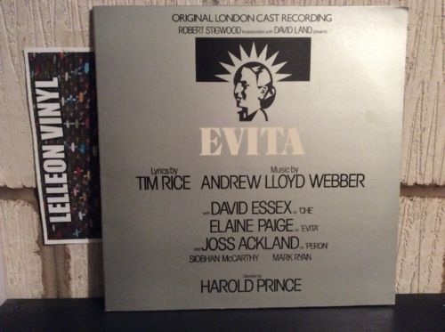 Evita Musical Soundtrack LP Album Vinyl Record MCG3527 70's Theatre Webber Music:Records:Albums/ LPs:Soundtracks/ Themes:Musicals