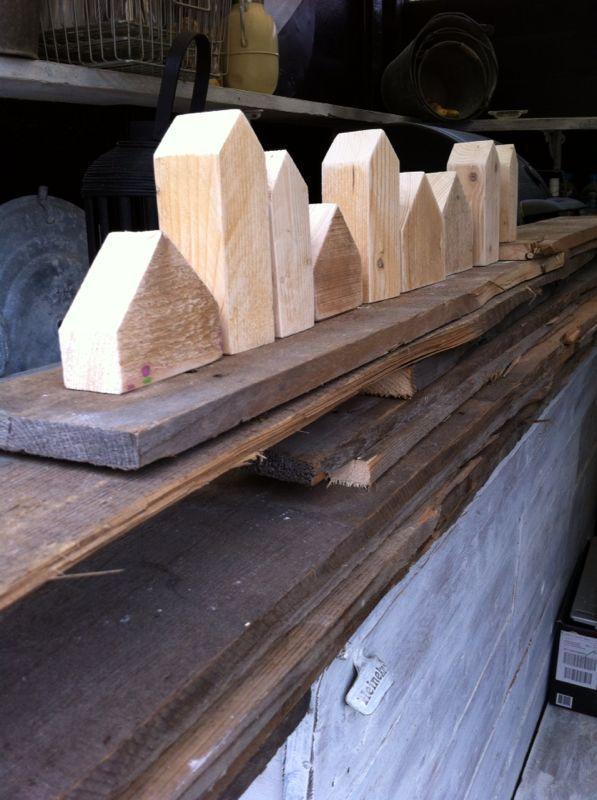 * Wooden goods * Wooden houses in different sizes from 4,50 Euro. Sauce … #wood