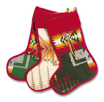 Christmas Stockings made from authentic recycled Pendleton Blankets.  Our primary goal at the Southwest Indian Foundation is to lessen the poverty and unemployment among the Native Americans of the Southwest, specifically members of the Navajo, Zuni, Hopi, Laguna, Acoma, and Apache tribes.