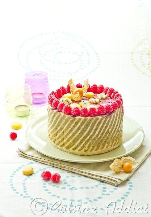 Rasberry lime ice cake