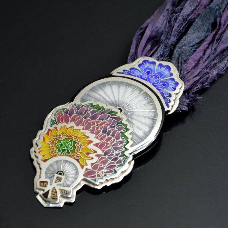"Silver cloisonne pendant ""Nederlanden"" by SamaiaJewellery on Etsy"