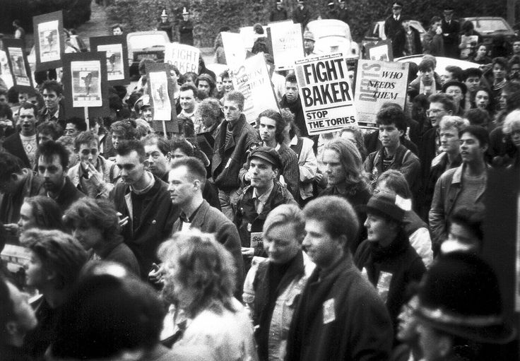 """student protest """"Grants not Loans"""" (World of Oddy) Tags: 1980s 80s protest students studentprotest march cardiff bw blackandwhite"""