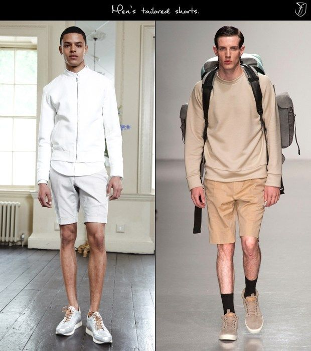 mens tailored shorts for spring