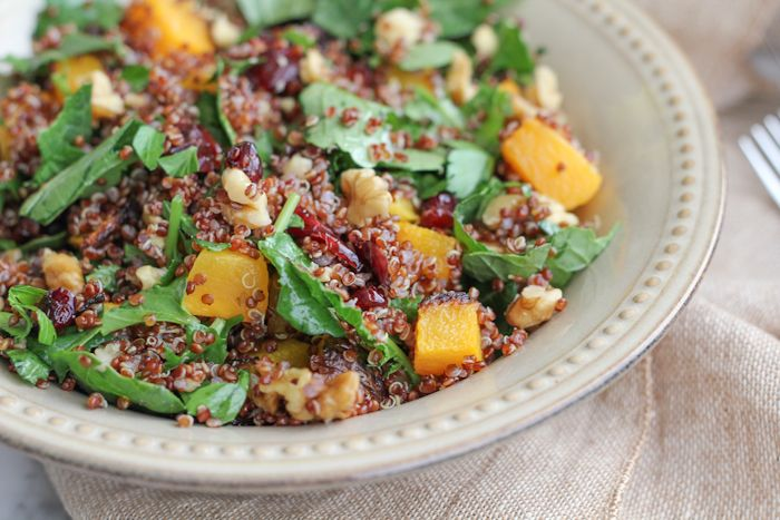 Red Quinoa Butternut Squash and Kale Salad . . . and a giveaway with Organic Girl! | Hip Foodie Mom