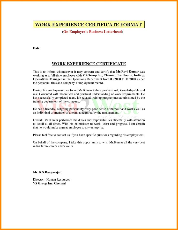 The mesmerizing With Sample Certificate Of Employment Part