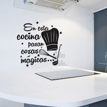 VINILO DECORATIVO PARED COCINA MAGICA