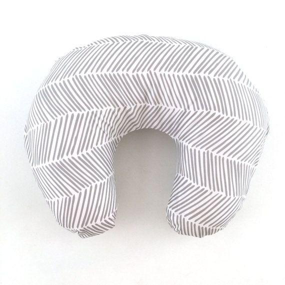 Boppy Cover Gray Freeform Arrows. Boppy. Nursing Pillow. Boppy Pillow Cover. Boppy Slipcover. Minky Boppy Cover. Gray Boppy Cover.