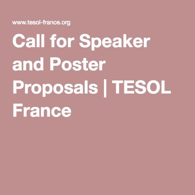 Call for Speaker and Poster Proposals | TESOL France