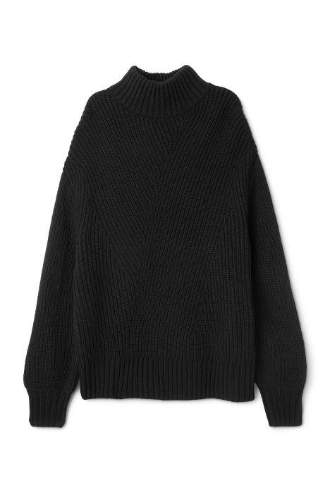 Weekday Swirl Sweater in Black