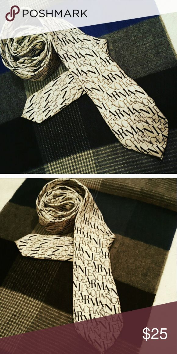 Armani Exchange Tie I always though it was cool and wanted to wear it my self with one outfit but never had a chance well someone will:) Armani Exchange Accessories Ties