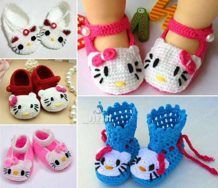 HELLO KITTY CROCHET BABY SHOESCreative Ideas | Creative Ideas