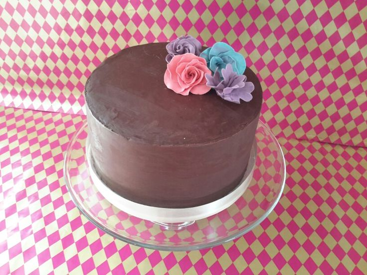 Chocolate cake flowers2