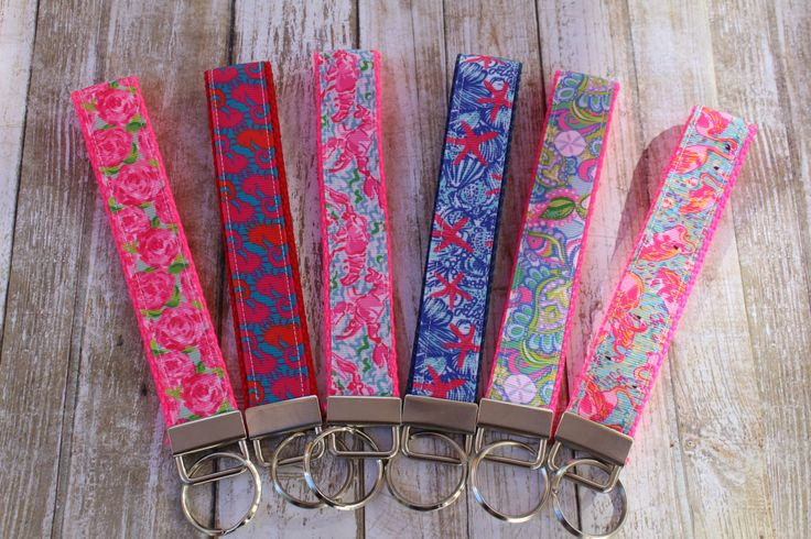 Personalized Key Fobs - Custom Key Chain Wristlets - Personalized Key Chains - Nautical Key Fob - Nautical Sorority Gift - Sorority Gifts by LLDPetBoutique on Etsy https://www.etsy.com/listing/400724291/personalized-key-fobs-custom-key-chain