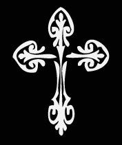 Swirl Cross Vinyl Vehicle Decal by designstudiosigns on Etsy, $12.00
