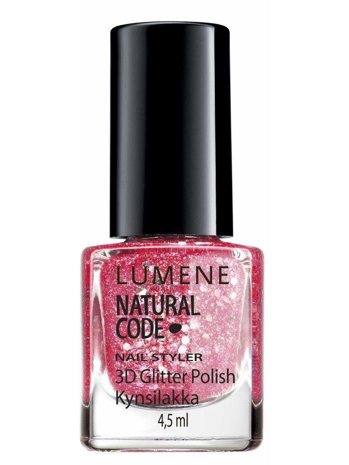 Natural Code Лак для ногтей с блестками 3D / №58 Розовый бриллиант Nail Styler 4 мл