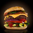 Beef burger foodstyling