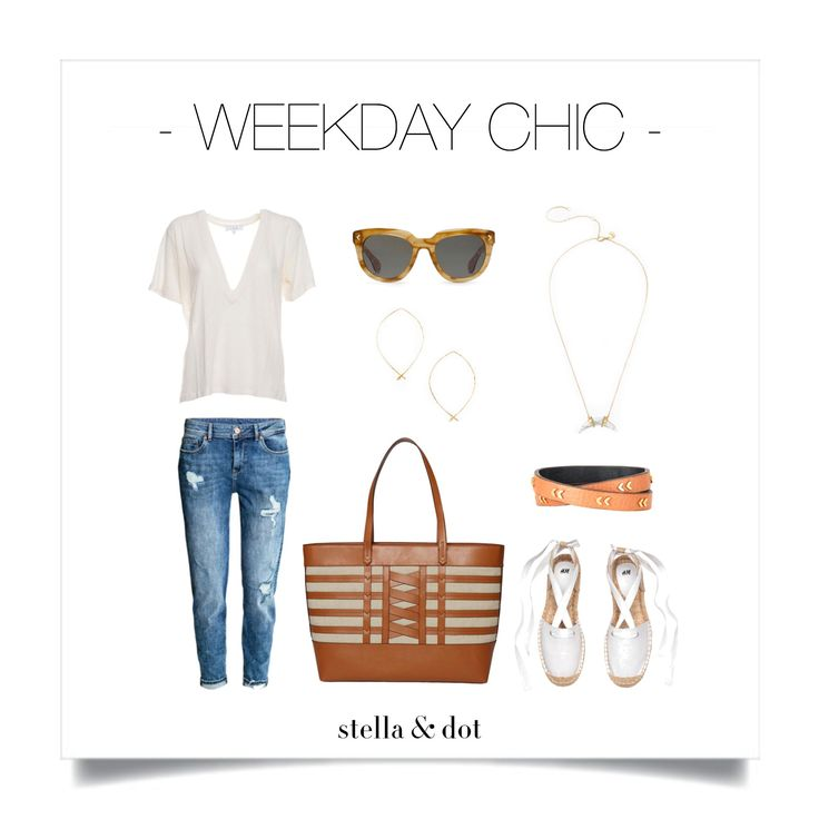 The Valencia Tote is perfect for all of your summer activities AND looks amazing with ANY outfit! | Stella & Dot