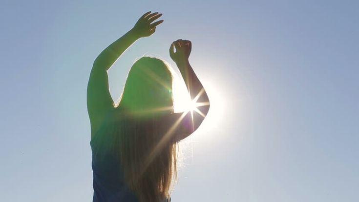 Beautiful Girl Enjoying At Sunrise Solar Flare Стоковые футажи для видео 20179180 - Shutterstock