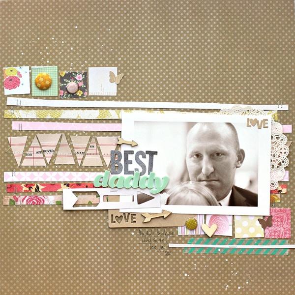 You, Me & Crazy: Scrapbook Ideas, Layout Inspiration, Pink Flowers, Aaa Scrapbook, Dad, Scrapbook Layouts, Papercrafting Inspiration, Corrie Jones, Scrap Ideas