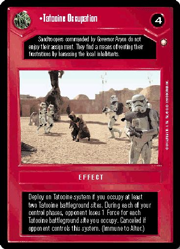 Tatooine Occupation [Near Mint] SPECIAL EDITION star wars ccg swccg