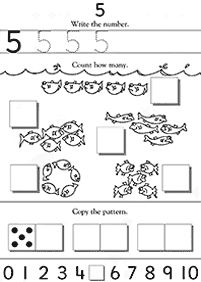 Learning #5 | Kindergarten, Preschool Math Worksheet ...