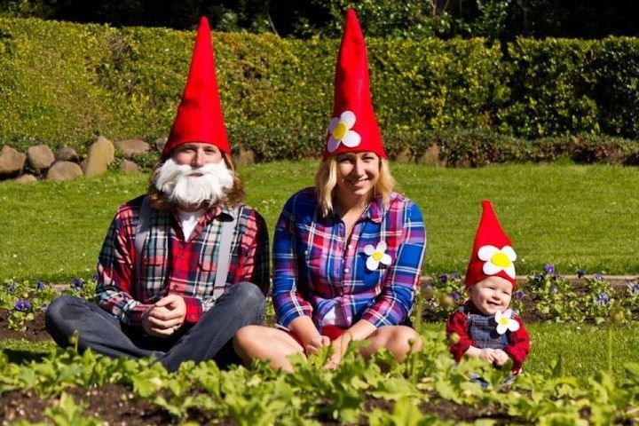 Gnome In Garden: Family Halloween Costumes