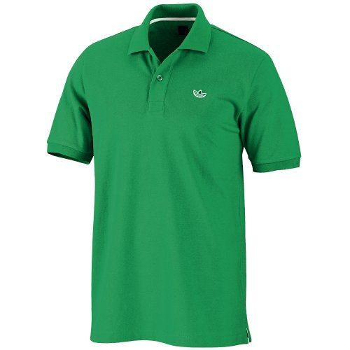 adidas green polo shirt