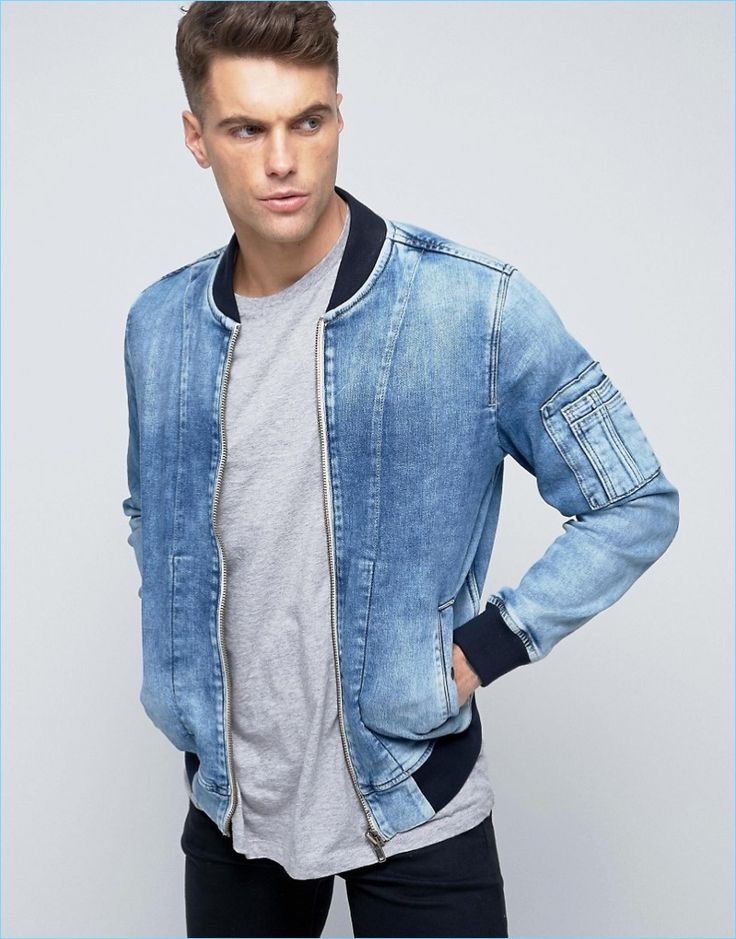Pepe Jeans Archive Denim Bomber Jacket