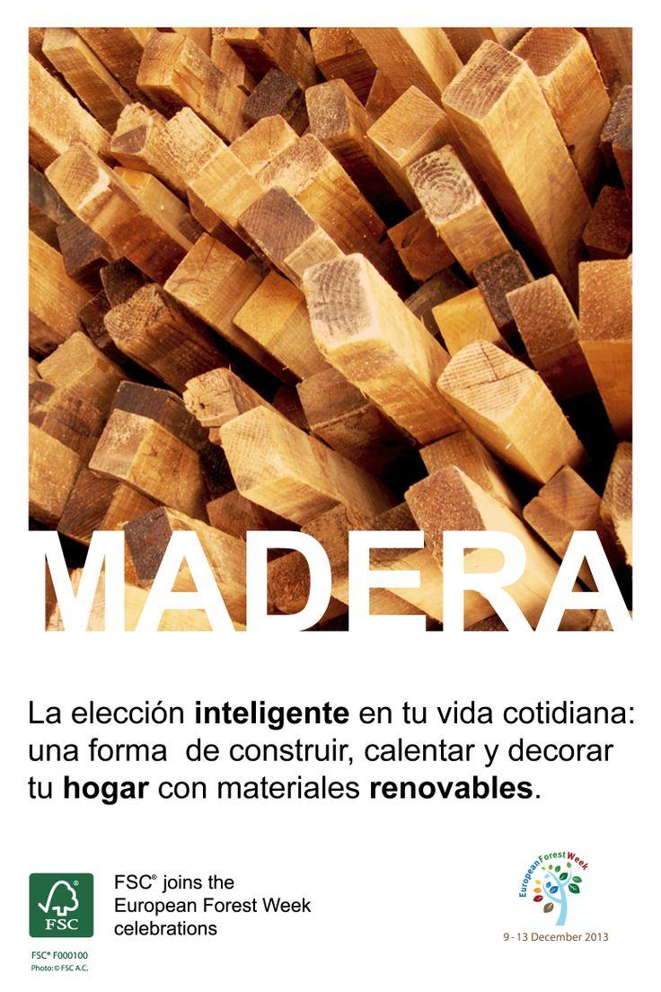 Madera  – La elección inteligente en tu vida cotidiana: una forma  de construir, calentar y decorar tu hogar con materiales renovables.