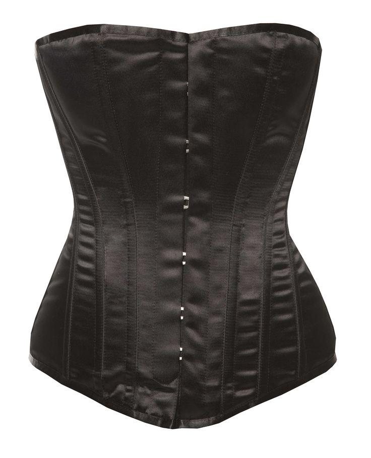 Harmony - Victorian Corsets - Black Satin by Vollers Corsets