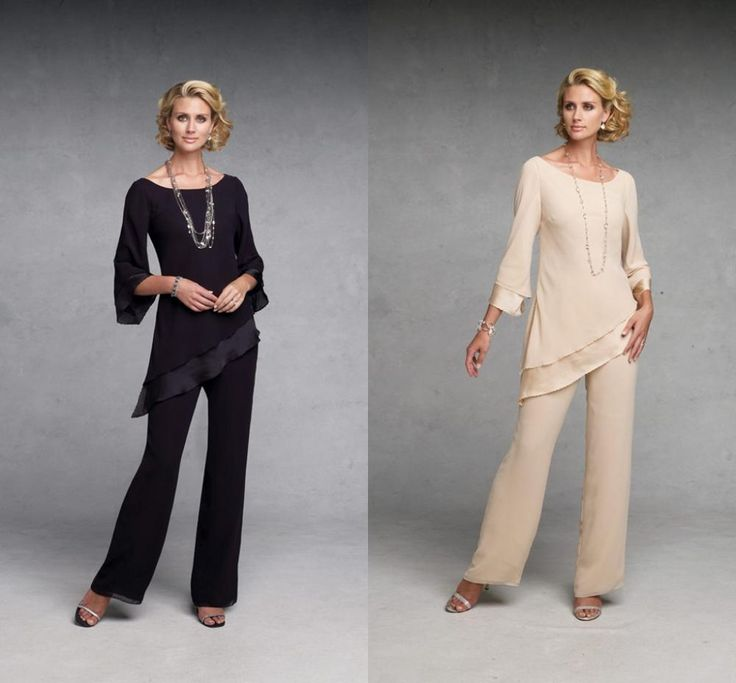 Cheap suit vest, Buy Quality suit pant directly from China suit combination Suppliers: 2014 Fashion Chiffon Mother of the Bride Pants Suit Set with Jacket Evening Party Dresses Three Quarter Length sleeves&