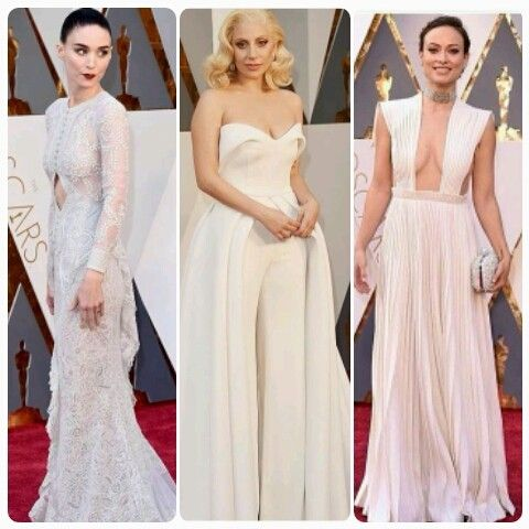 Rooney Mara, Lady Gaga e Olivia Wilde fizeram bonito com looks brancos (Foto: Divulgação)