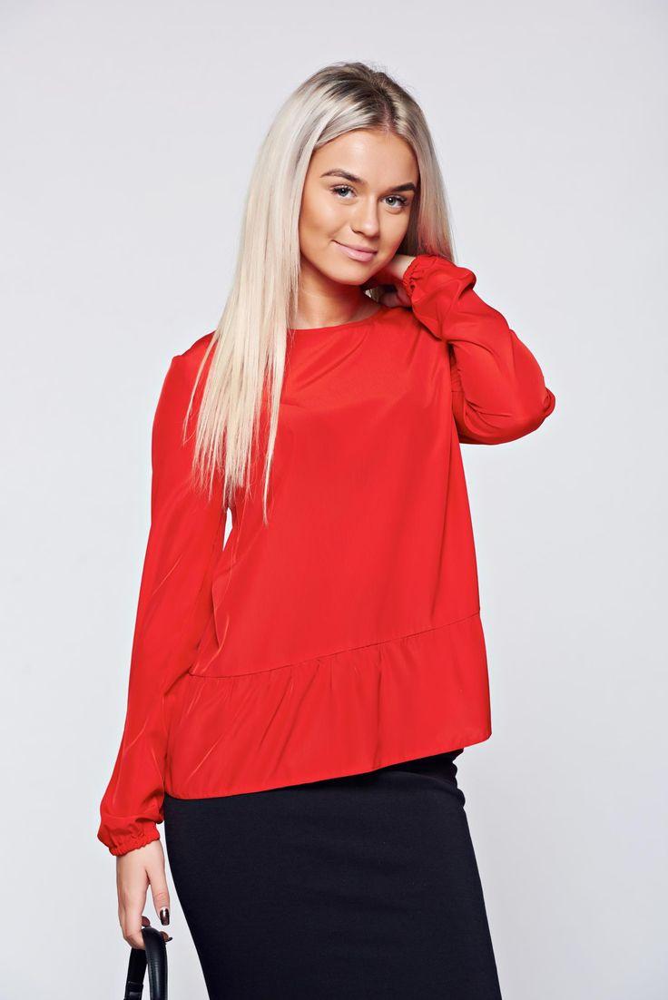 Comanda online, Bluza dama casual rosie StarShinerS. Articole masurate, calitate garantata!