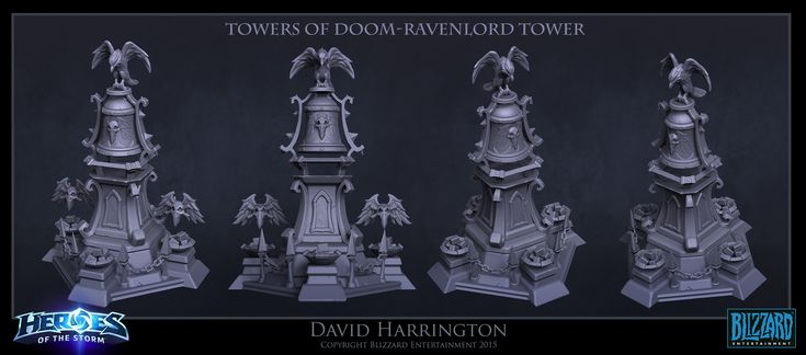 ArtStation - Heroes Of The Storm - Towers Of Doom Ravenlord Tower, David Harrington