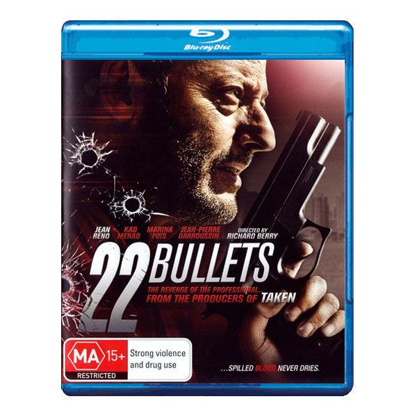 22 Bullets Blu-ray Brand New Region B Aust. - Jean Reno - Suspense/Thriller