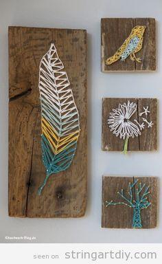 String Art DIY | Ideas, tutorials, free patterns and templates to make String Art - Part 6