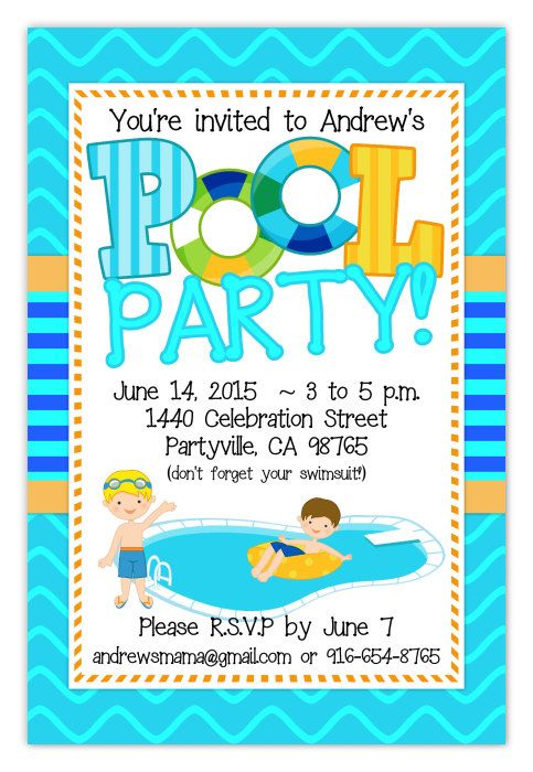 The 25+ best Boy pool parties ideas on Pinterest Kid pool - pool party invitation