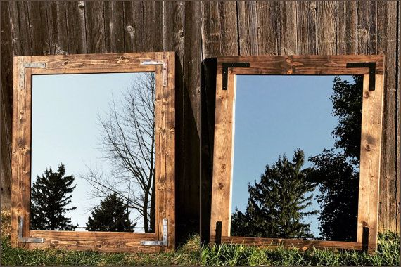 Unique Handmade Mirror Rustic Wood Mirror Wall Mirror by Lulight