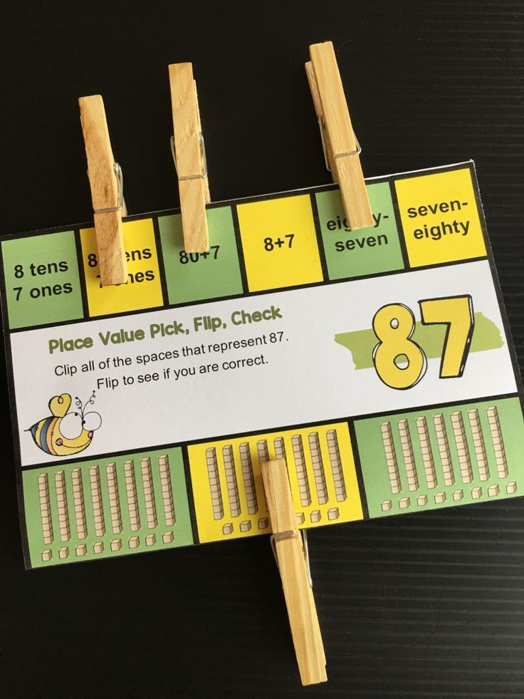 FREEBIE - Place Value 2 Digit Numbers Pick, Flip Check Cards by Games 4 Learning - The fun way to review place value with 2 digit numbers.