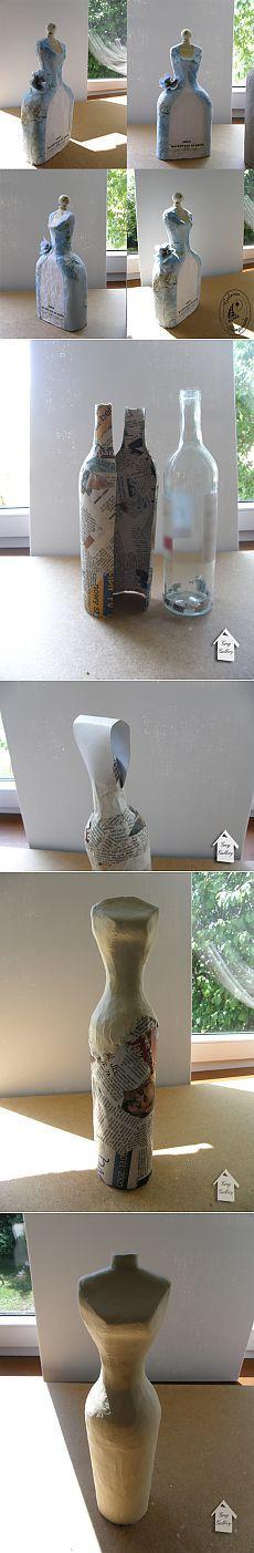 Maniquíes hechos de papel maché.  Clase magistral.